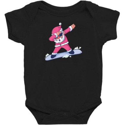 Snowboard Santa Dab Baby Bodysuit Designed By Dirjaart