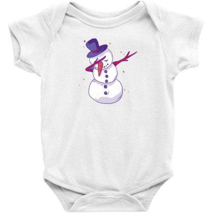Snowman Dab Baby Bodysuit Designed By Dirjaart
