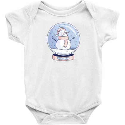 Snowglobe Snowman Baby Bodysuit Designed By Dirjaart