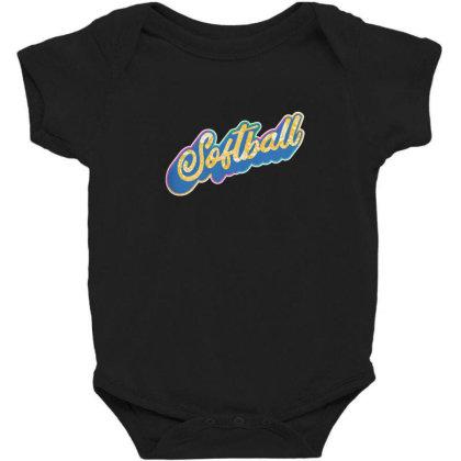 Softball Lettering Baby Bodysuit Designed By Dirjaart