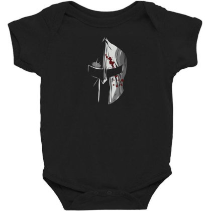 Spartan Helmet Baby Bodysuit Designed By Dirjaart