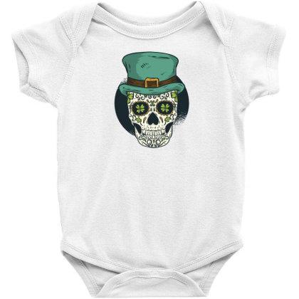 St Patrick's Skull Baby Bodysuit Designed By Dirjaart