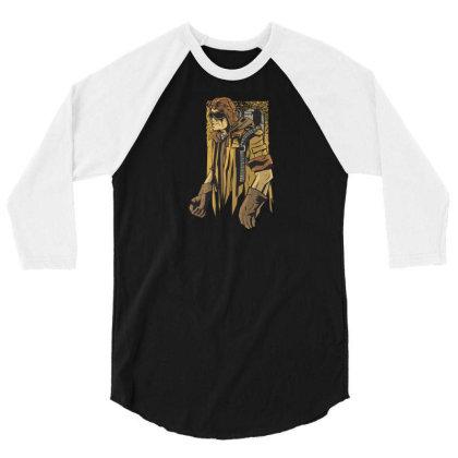 Steampunk Man 3/4 Sleeve Shirt Designed By Dirjaart