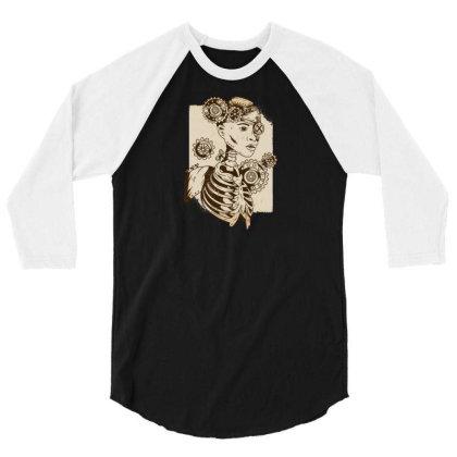 Steampunk Human 3/4 Sleeve Shirt Designed By Dirjaart