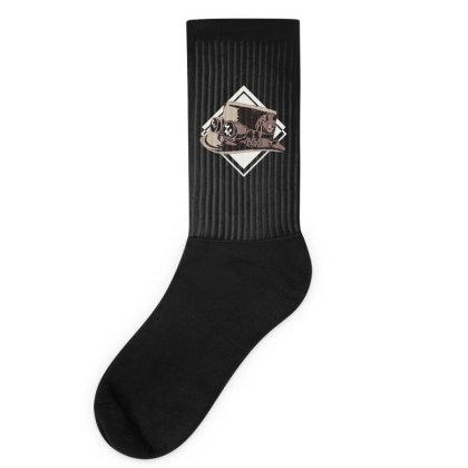 Steampunk Top Hat Socks Designed By Dirjaart