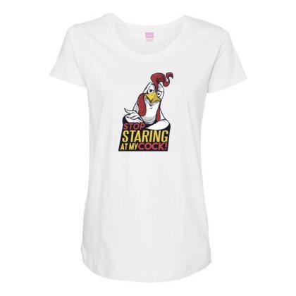 Stop Staring Maternity Scoop Neck T-shirt Designed By Dirjaart