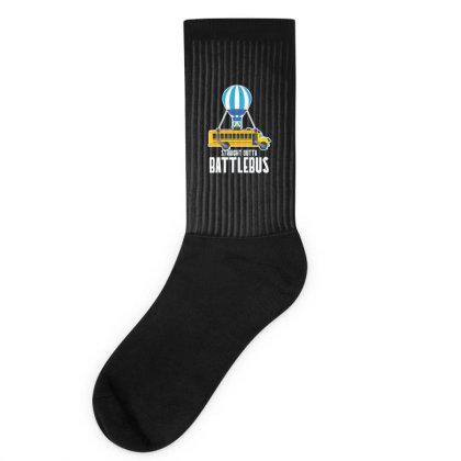 Straight Outta Battlebus Parody Socks Designed By Dirjaart