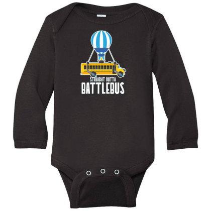 Straight Outta Battlebus Parody Long Sleeve Baby Bodysuit Designed By Dirjaart