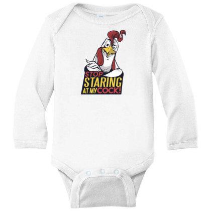 Stop Staring Long Sleeve Baby Bodysuit Designed By Dirjaart