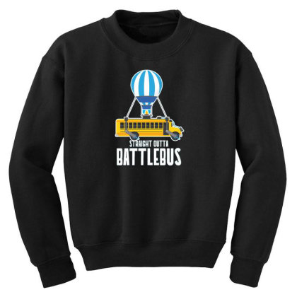 Straight Outta Battlebus Parody Youth Sweatshirt Designed By Dirjaart