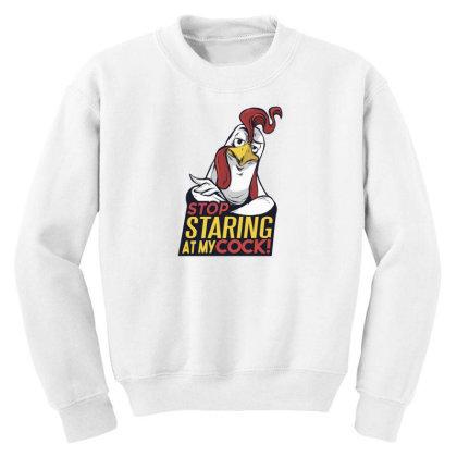 Stop Staring Youth Sweatshirt Designed By Dirjaart