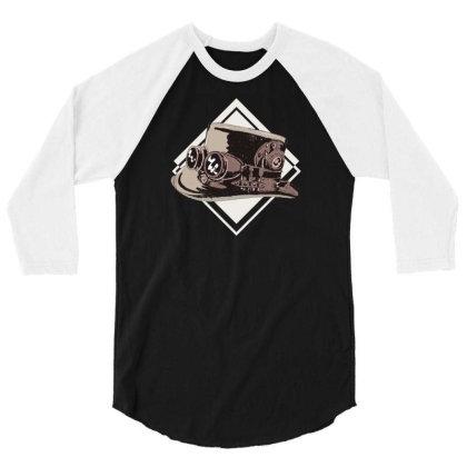 Steampunk Top Hat 3/4 Sleeve Shirt Designed By Dirjaart
