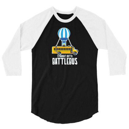 Straight Outta Battlebus Parody 3/4 Sleeve Shirt Designed By Dirjaart