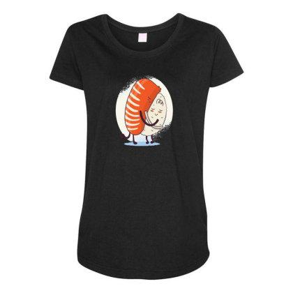 Sushi Hug Maternity Scoop Neck T-shirt Designed By Dirjaart