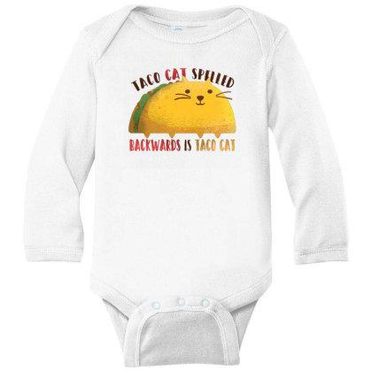 Taco Cat Long Sleeve Baby Bodysuit Designed By Dirjaart