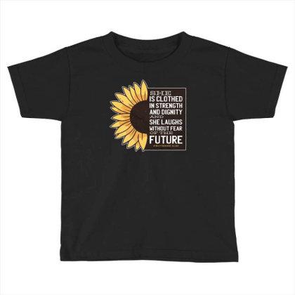 Sunflower Toddler T-shirt Designed By Dirjaart