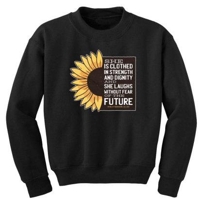 Sunflower Youth Sweatshirt Designed By Dirjaart