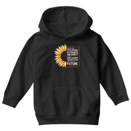 Sunflower Youth Hoodie Designed By Dirjaart
