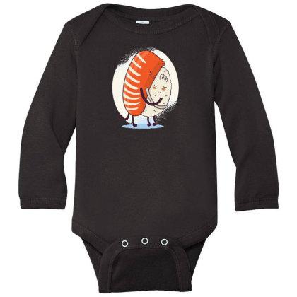 Sushi Hug Long Sleeve Baby Bodysuit Designed By Dirjaart