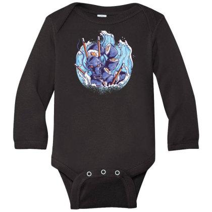 Sushi Dragon Long Sleeve Baby Bodysuit Designed By Dirjaart