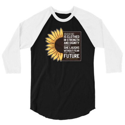 Sunflower 3/4 Sleeve Shirt Designed By Dirjaart