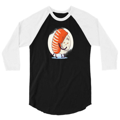 Sushi Hug 3/4 Sleeve Shirt Designed By Dirjaart