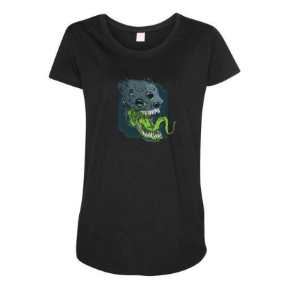 Terrifying Alien Maternity Scoop Neck T-shirt Designed By Dirjaart
