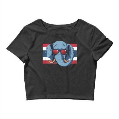 Thailand Elephant Crop Top Designed By Dirjaart