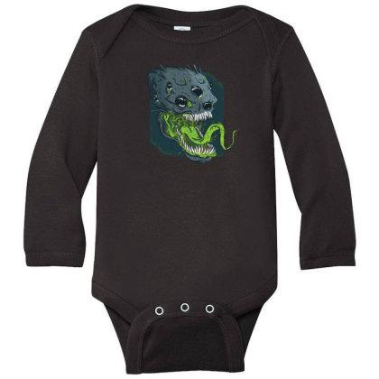 Terrifying Alien Long Sleeve Baby Bodysuit Designed By Dirjaart