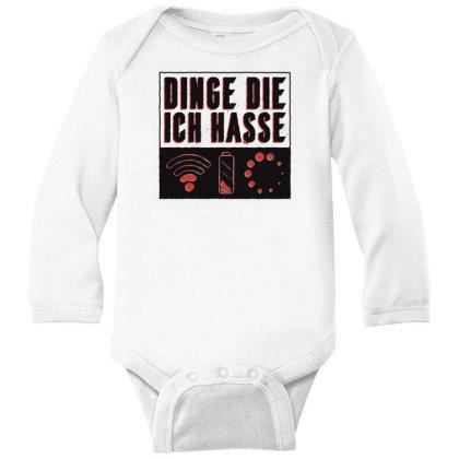 Things I Hate Long Sleeve Baby Bodysuit Designed By Dirjaart
