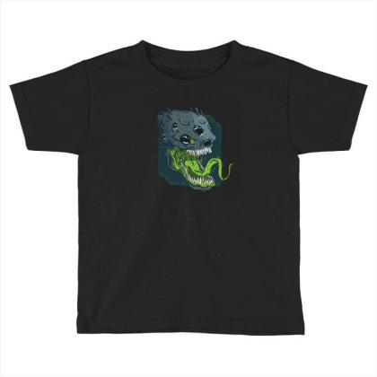 Terrifying Alien Toddler T-shirt Designed By Dirjaart