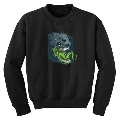 Terrifying Alien Youth Sweatshirt Designed By Dirjaart