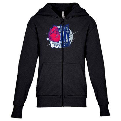 Take My Heart Youth Zipper Hoodie Designed By Dirjaart