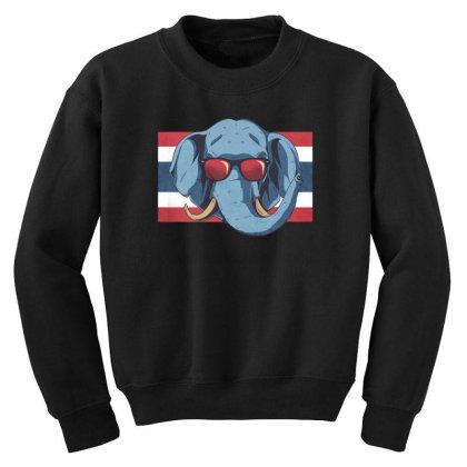 Thailand Elephant Youth Sweatshirt Designed By Dirjaart