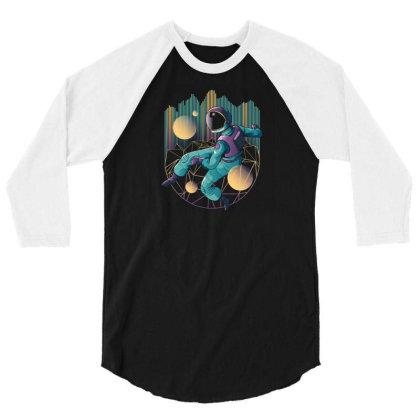 Techno Astronaut 3/4 Sleeve Shirt Designed By Dirjaart