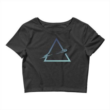 Triangle Abstract Crop Top Designed By Dirjaart