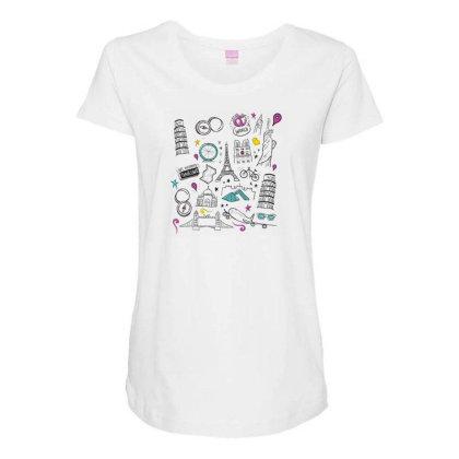 Travel Maternity Scoop Neck T-shirt Designed By Dirjaart