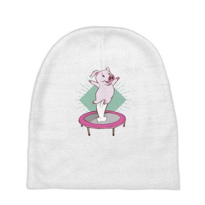 Trampoline Pig Baby Beanies Designed By Dirjaart