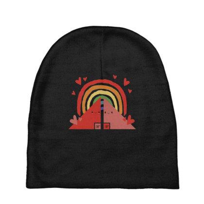 Triangles Rainbow Baby Beanies Designed By Dirjaart