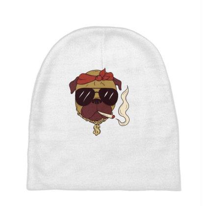 Thug Pug Baby Beanies Designed By Dirjaart