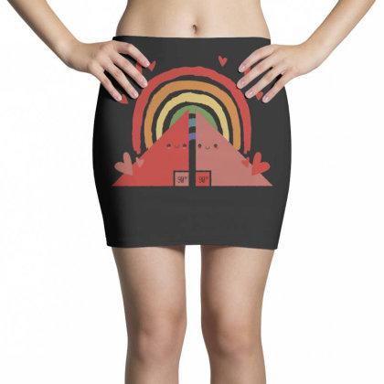 Triangles Rainbow Mini Skirts Designed By Dirjaart