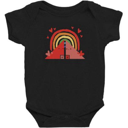 Triangles Rainbow Baby Bodysuit Designed By Dirjaart