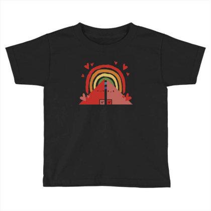 Triangles Rainbow Toddler T-shirt Designed By Dirjaart