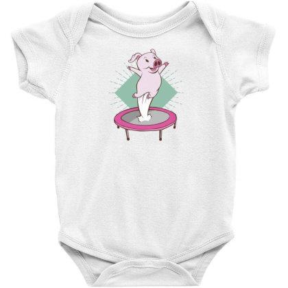 Trampoline Pig Baby Bodysuit Designed By Dirjaart