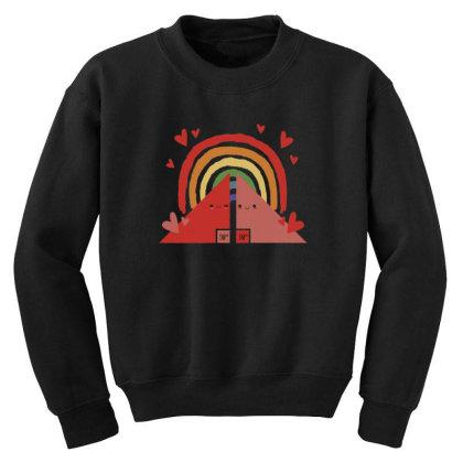 Triangles Rainbow Youth Sweatshirt Designed By Dirjaart