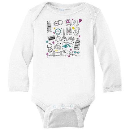 Travel Long Sleeve Baby Bodysuit Designed By Dirjaart