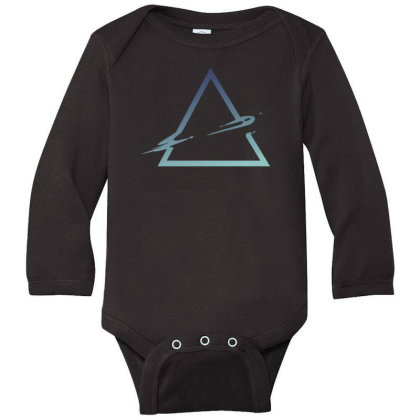 Triangle Abstract Long Sleeve Baby Bodysuit Designed By Dirjaart