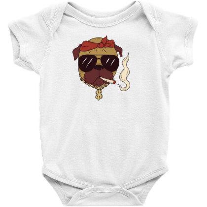 Thug Pug Baby Bodysuit Designed By Dirjaart
