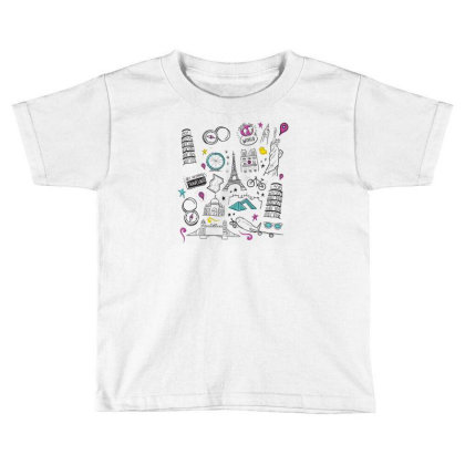 Travel Toddler T-shirt Designed By Dirjaart