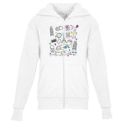 Travel Youth Zipper Hoodie Designed By Dirjaart